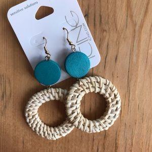 Icing Sensitive Solutions wood n wicker earrings